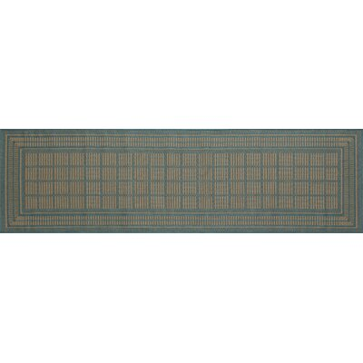 Cazares Blue Indoor/Outdoor Area Rug Rug Size: Runner 27 x 9