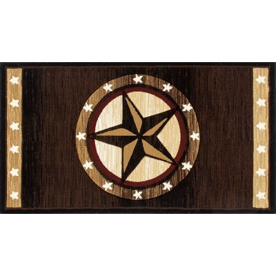 Charmant Brown Area Rug Rug Size: Rectangle 2.7 x 4.1