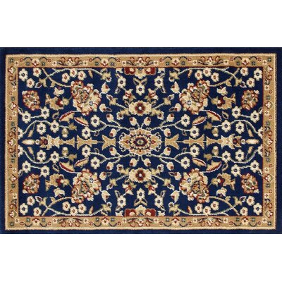 Willard Navy/Beige Area Rug Rug Size: Rectangle 2.2 x 3.3
