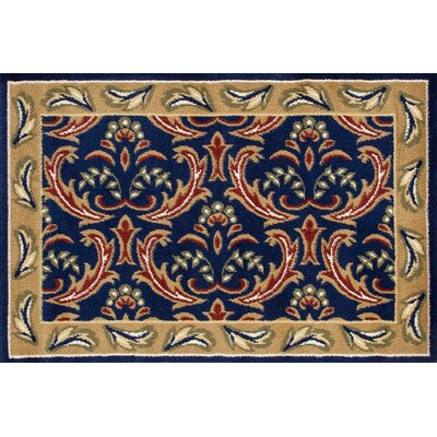 Willard Navy/Green Area Rug Rug Size: Rectangle 2.7 x 4.1