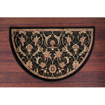 Willard Black/Dark Beige Area Rug Rug Size: Slice 27 x 41