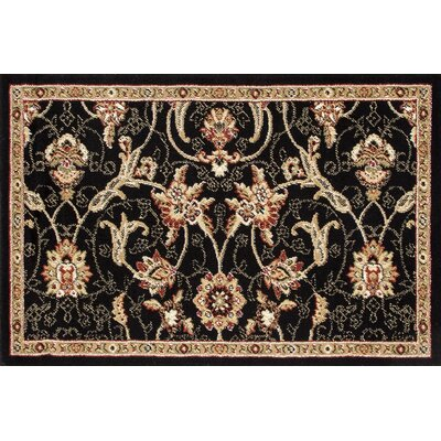 Willard Black/Dark Beige Area Rug Rug Size: Rectangle 22 x 33