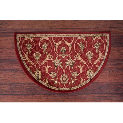 Willard Burgundy/Dark Beige Area Rug Rug Size: Slice 27 x 41