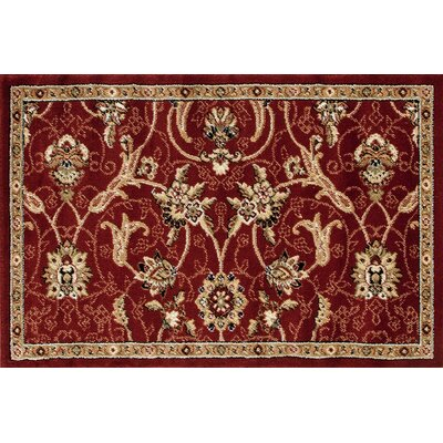Willard Burgundy/Dark Beige Area Rug Rug Size: Rectangle 27 x 41