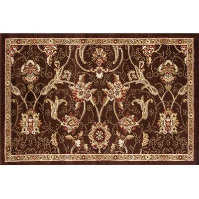 Willard Brown/Dark Beige Area Rug Rug Size: Rectangle 27 x 41