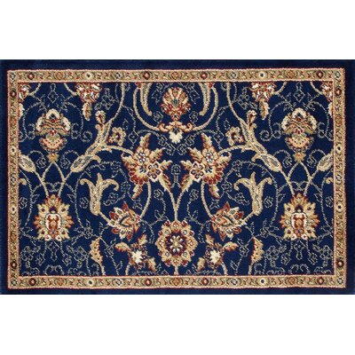 Willard Navy/Dark Beige Area Rug Rug Size: Rectangle 22 x 33