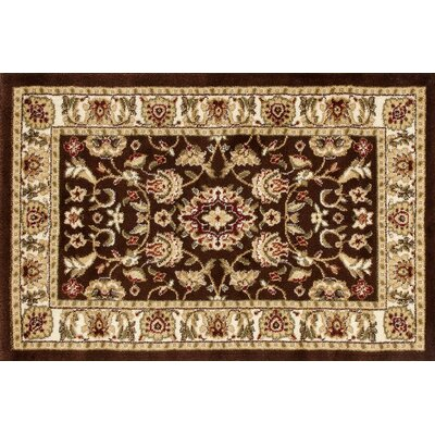 Willard Brown/Beige Area Rug Rug Size: Rectangle 22 x 33