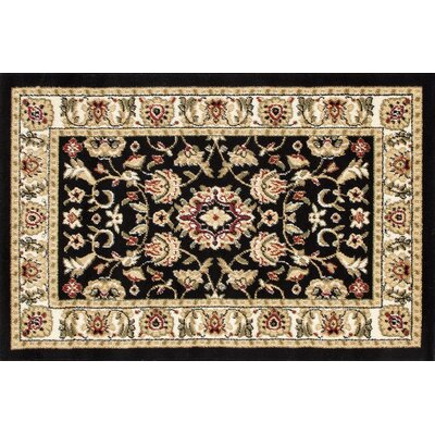Willard Black/Light Beige Area Rug Rug Size: Rectangle 27 x 41