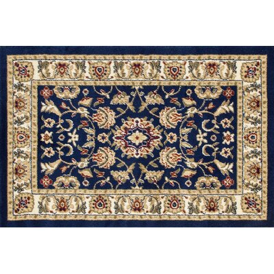 Willard Navy/Light Beige Area Rug Rug Size: Rectangle 22 x 33