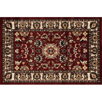 Willard Burgundy/Light Beige Area Rug Rug Size: Rectangle 27 x 41