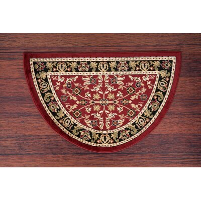 Willcox Burgundy/Black Area Rug Rug Size: Slice 27 x 41