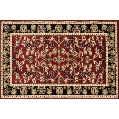 Willcox Burgundy/Black Area Rug Rug Size: Rectangle 27 x 41