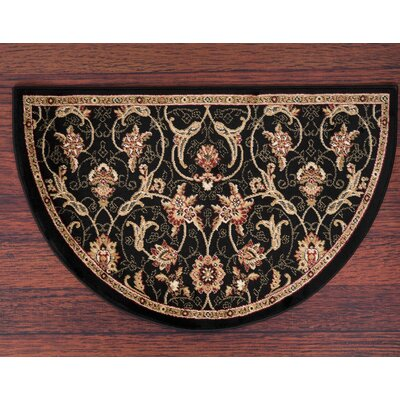 Willard Black/Dark Beige Area Rug Rug Size: Slice 22 x 33