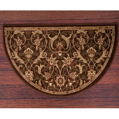 Willard Brown/Dark Beige Area Rug Rug Size: Slice 27 x 41