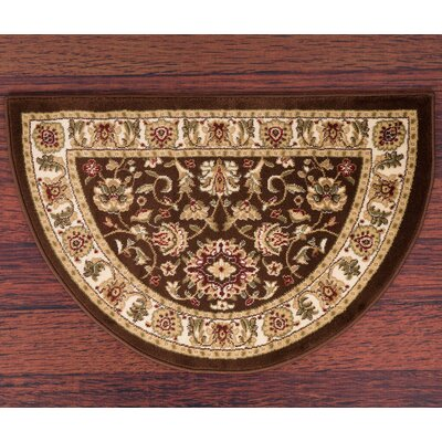 Willard Brown/Beige Area Rug Rug Size: Slice 22 x 33