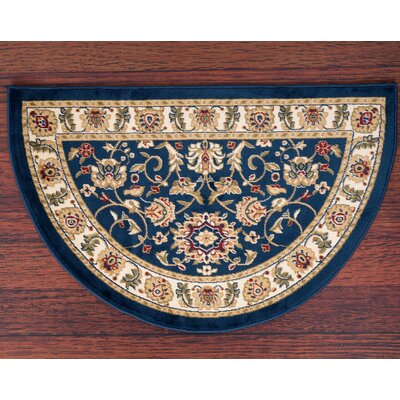 Willard Navy/Light Beige Area Rug Rug Size: Slice 22 x 33