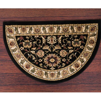 Willard Black/Light Beige Area Rug Rug Size: Slice 27 x 41