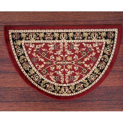 Willcox Burgundy/Black Area Rug Rug Size: Slice 22 x 33