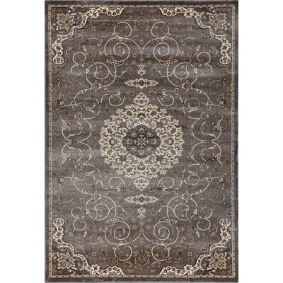 Landy Gray Area Rug Rug Size: 92 x 126