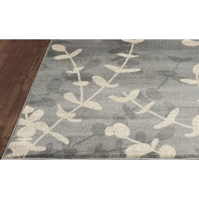 Vasques Gray/Cream Area Rug Rug Size: 53 x 77