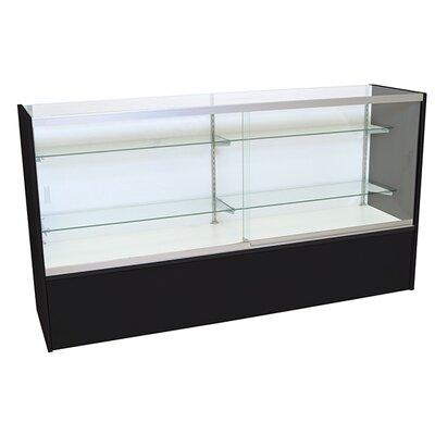 Front Opening Glass Showcase Finish: Black, Size: 38