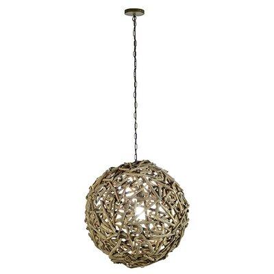 Modern 1-Light Globe Pendant Size: Large