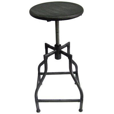 Bristol Adjustable Height Swivel Bar Stool Upholstery: Vintage Pewter