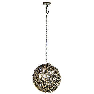 Modern 1-Light Globe Pendant Size: Medium