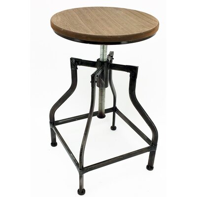 Bristol Adjustable Height Swivel Bar Stool Upholstery: Vintage Silverwood