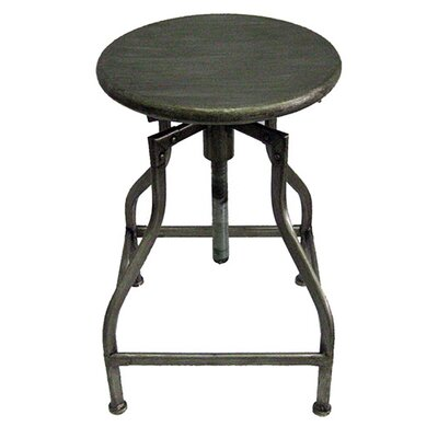Bristol Adjustable Height Swivel Bar Stool Upholstery: Vintage Silver