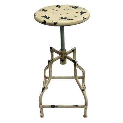 Bristol Adjustable Height Swivel Bar Stool Upholstery: Vintage Cream