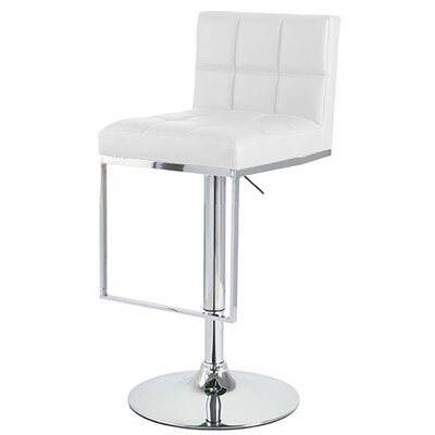 Alex Adjustable Height Swivel Bar Stool Upholstery: White
