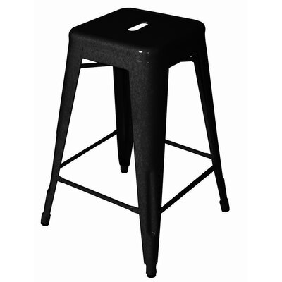 Ajax 24 Bar Stool Finish: Black