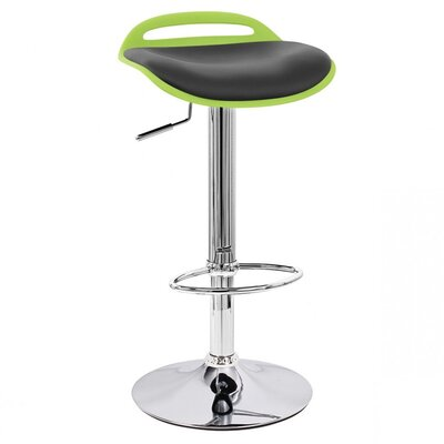 Beckham Adjustable Height Swivel Bar Stool Upholstery: Lime