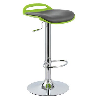 Beckham Adjustable Height Swivel Bar Stool Upholstery: Lime
