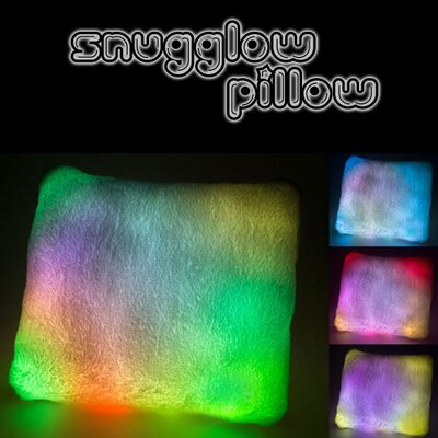 Ultra Soft LED Night Light Throw Pillow