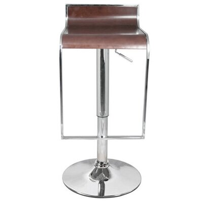 Omega Adjustable Height Swivel Bar Stool Finish: Walnut
