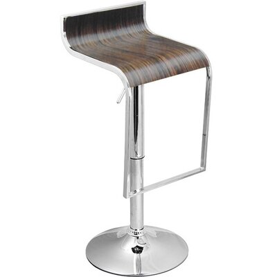 Omega Adjustable Height Swivel Bar Stool Finish: Wenge