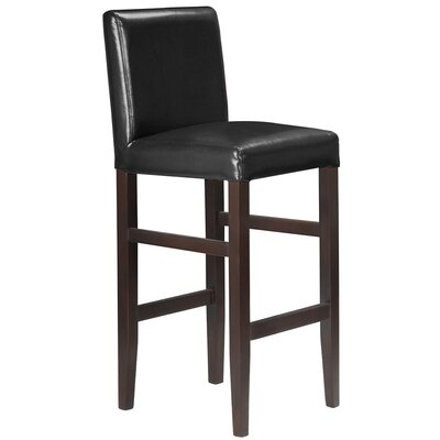 Kendall 29.5 Bar Stool Upholstery: Black