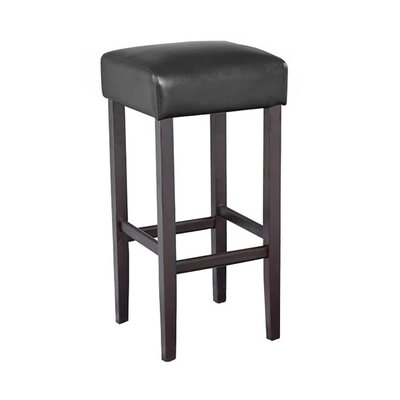 Piper 32 Bar Stool Upholstery: Black