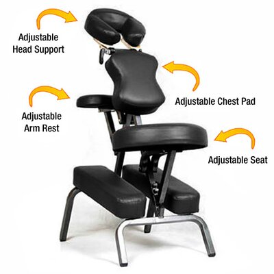 Ataraxia Leather Portable Massage Chair Color: Black