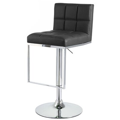 Alex Adjustable Height Swivel Bar Stool Upholstery: Black