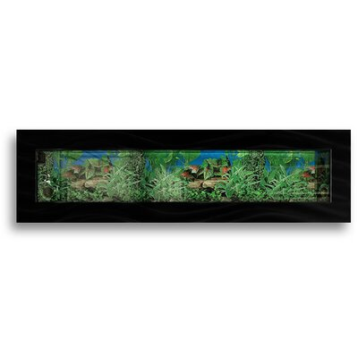 Aussie 11.5 Gallon Wall Mounted Aquarium Tank Color: Black