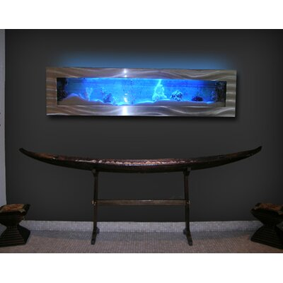 Aussie 11.5 Gallon Wall Mounted Aquarium Tank Color: Silver