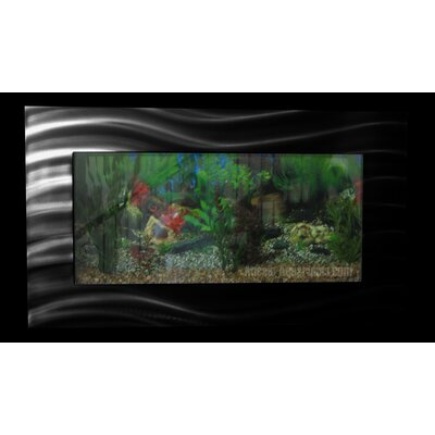 Aussie 10.25 Gallon Wall Mounted Aquarium Tank Color: Black