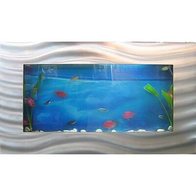 Aussie 10.25 Gallon Wall Mounted Aquarium Tank Color: Silver