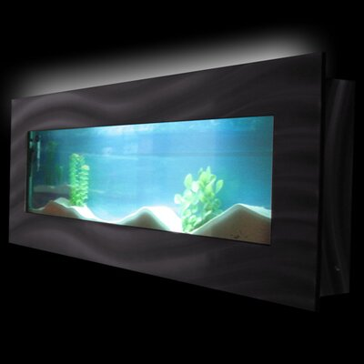 Aussie 7.5 Gallon Wall Mounted Aquarium Tank Color: Black