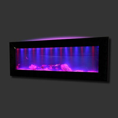 Aussie 10 Gallon Mirrored Glass Wall Mounted Aquarium Tank