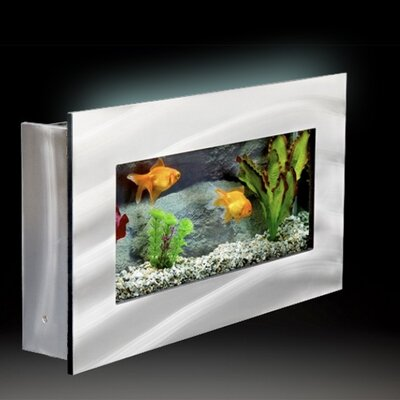 Aussie 2.5 Gallon Wall Mounted Aquarium Tank Color: Silver