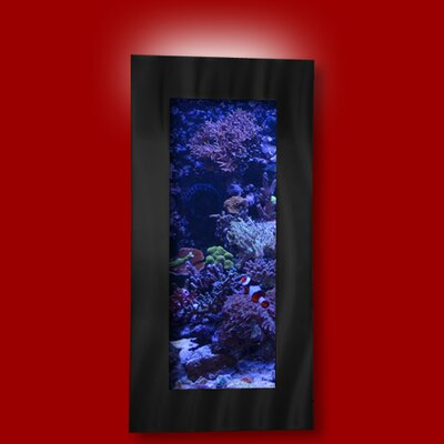 Aussie 5 Gallon Wall Mounted Aquarium Tank Color: Black
